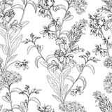 Floral pattern. Posy background. Flower bouquet wallpaper. Flourish texture Stock Photography
