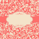 Floral pattern on red background Royalty Free Stock Photography