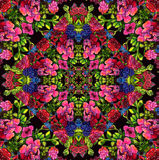 Floral pattern with red flowers Royalty Free Stock Photo