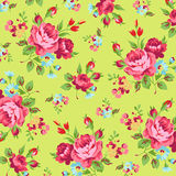 Floral pattern with red rose Stock Photography