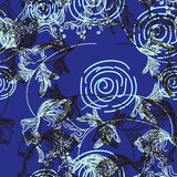 Floral pattern in retro style Stock Photography