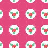 Floral pattern with roses on light background Stock Photo