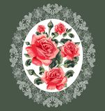 Floral pattern (roses) Stock Photo