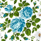 Floral pattern with roses. Vector Floral Background. Easy to edit. Perfect for invitations or announcements. Stock Photography
