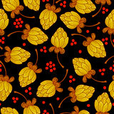 Floral pattern in russian style Stock Images
