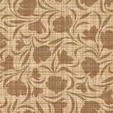 Floral pattern on a sacking background. Vector sea Stock Photo