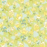 Floral seamless pattern with bellflowers Stock Photography