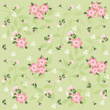 Floral pattern for scrapbook. Royalty Free Stock Image