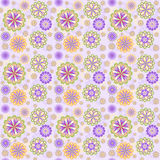 Floral pattern for scrapbook. Royalty Free Stock Photography