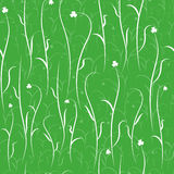 Floral pattern. Seamless abstract floral pattern on green background Vector Illustration