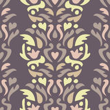 Floral pattern. Seamless abstract ornamental background. Royalty Free Stock Photography