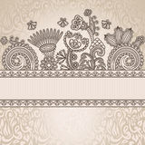 Floral pattern on seamless background Royalty Free Stock Photo