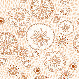 Floral pattern, seamless background with flowers a Stock Photography