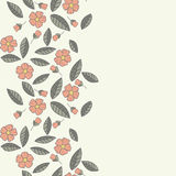 Floral  pattern. Seamless doodle flowers. Stock Images