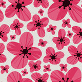Floral  pattern. Seamless doodle flowers. Stock Photo