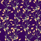 Floral  pattern. Seamless doodle flowers. Royalty Free Stock Image