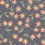 Floral  pattern. Seamless doodle flowers. Royalty Free Stock Photography