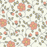 Floral  pattern. Seamless doodle flowers. Stock Image