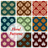 Floral pattern of seamless flower vector ornament Stock Image