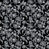 Floral pattern. Seamless floral pattern with intricate details Royalty Free Stock Photos