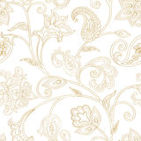 Floral pattern. Seamless oriental arabesque background. Tiled or Stock Photo