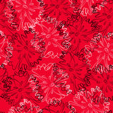 Floral pattern. Floral seamless pattern on a red background vector illustration