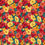 Floral pattern seamless retro. Royalty Free Stock Images
