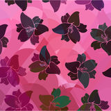 Floral pattern seamless retro. Royalty Free Stock Photo