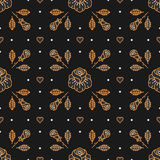Floral pattern seamless, rhombus cell backdrop, trendy Art Deco background Stock Photo