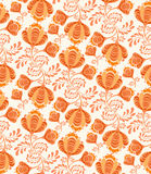 Floral pattern seamless in russian style. Stock Image