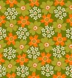 floral pattern seamless tiled Στοκ Φωτογραφία