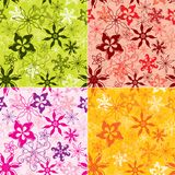 Floral pattern seamless vector royalty free illustration