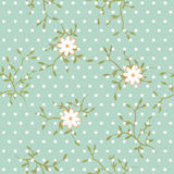 Floral pattern. A seamless vector background. Stock Images