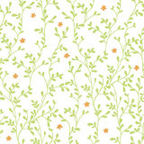 Floral pattern. Seamless vector floral pattern with branches Royalty Free Stock Photo