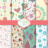 Floral pattern set Royalty Free Stock Images