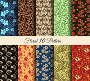 Floral Pattern Set Royalty Free Stock Photo