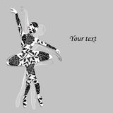 Floral pattern in shape of a ballerina. Stock Image
