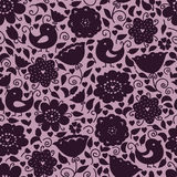 floral  pattern of silhouettes Royalty Free Stock Photos