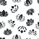Floral pattern with silhouettes of the petals Stock Photos