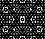 Floral pattern with simple geometric figures. Stock Photo