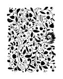 Floral pattern, sketch for your design Royalty Free Stock Photography