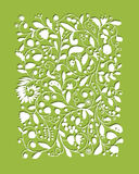 Floral pattern, sketch for your design Stock Photography