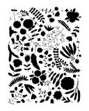 Floral pattern, sketch for your design Royalty Free Stock Photo