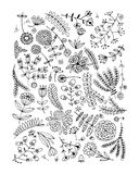Floral pattern, sketch for your design Stock Photos