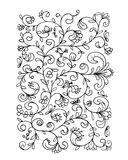 Floral pattern, sketch for your design Royalty Free Stock Photos