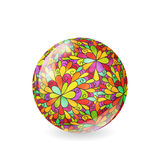 Floral pattern sphere Stock Image