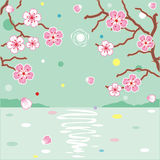 Floral pattern spring background Stock Image