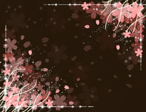 Cherry blossoms background. Floral pattern spring background Royalty Free Stock Photo