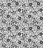 FLORAL VECTOR PATTERN IN BLACK N WHITE Royalty Free Stock Images