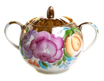 Floral pattern sugar bowl Stock Images